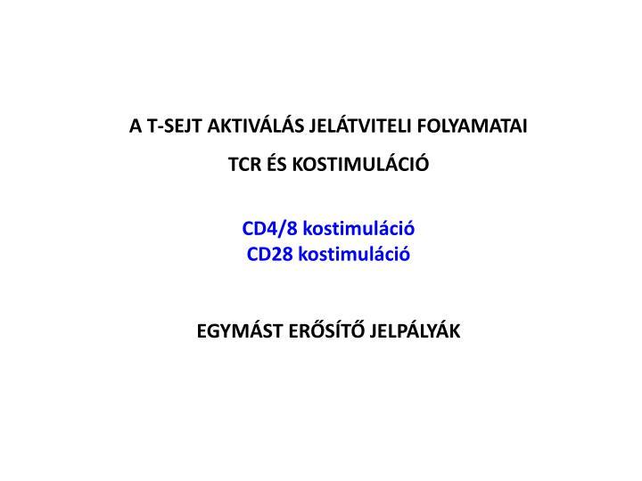 A T-SEJT AKTIVÁLÁS JELÁTVITELI FOLYAMATAI