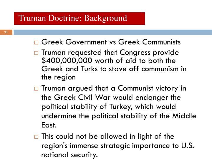 Truman Doctrine: Background