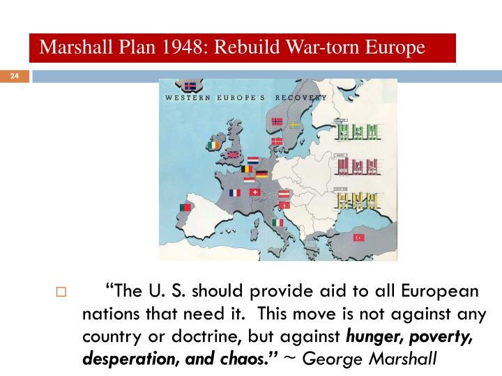 Marshall Plan 1948: Rebuild War-torn Europe