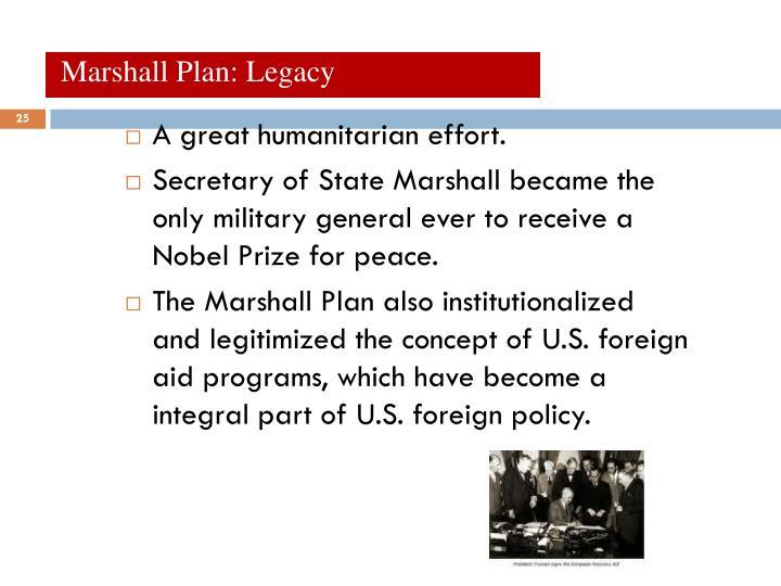 Marshall Plan: Legacy