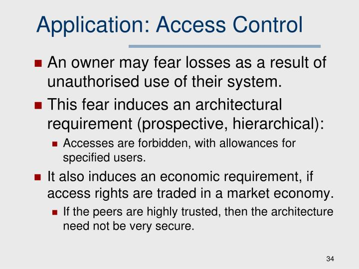 Application: Access Control