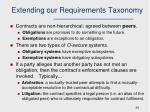 extending our requirements taxonomy