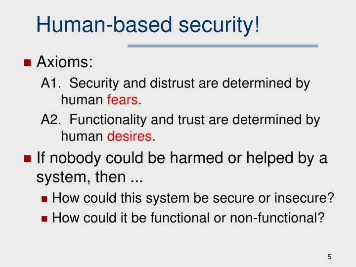 Human-based security!