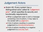 judgement actors