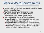 micro to macro security req ts