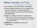 niklas luhmann on trust