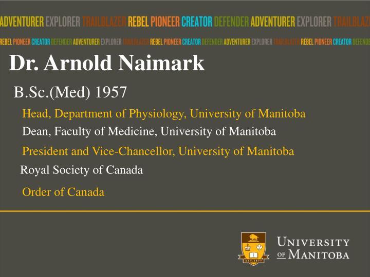 Dr. Arnold