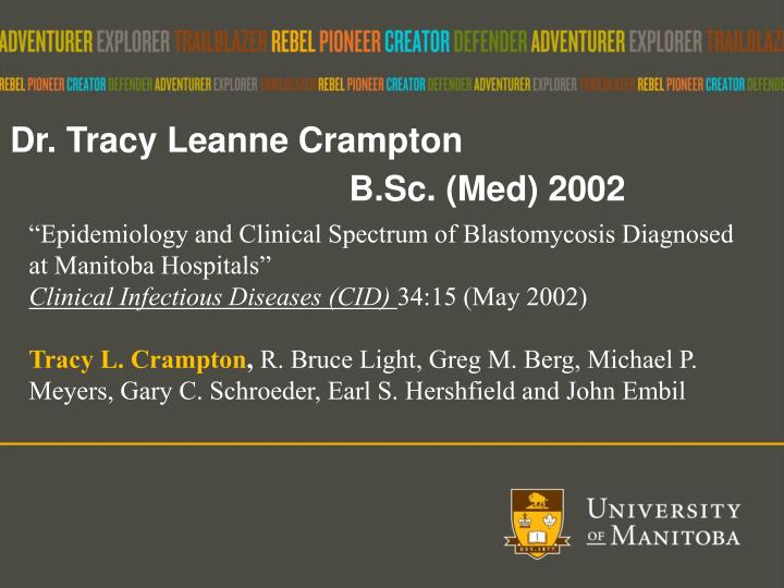 Dr. Tracy Leanne