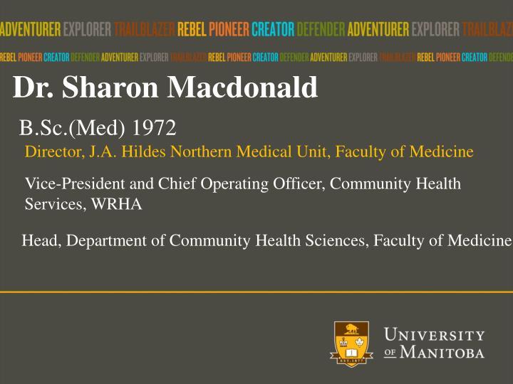 Dr. Sharon Macdonald