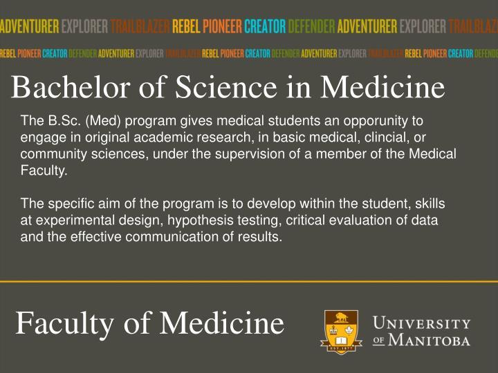 Bachelor of Science in Medicine
