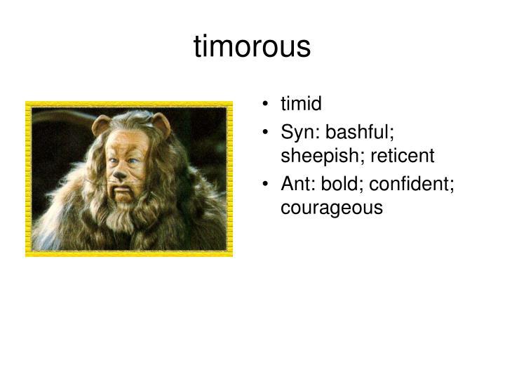 timorous