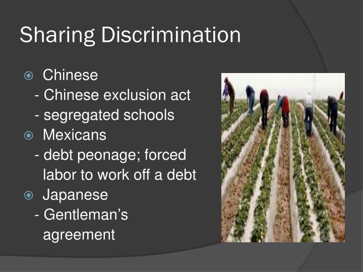 Sharing Discrimination