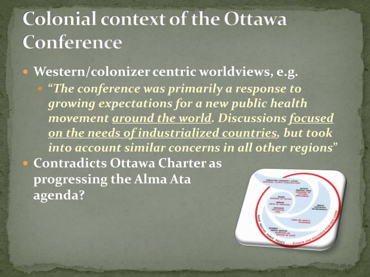 Colonial context of the Ottawa Conference