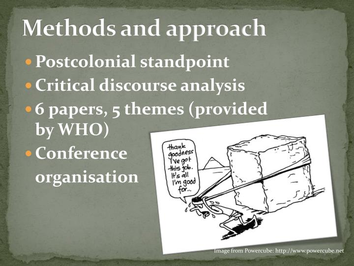 Methods and approach