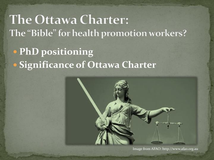 The Ottawa Charter: