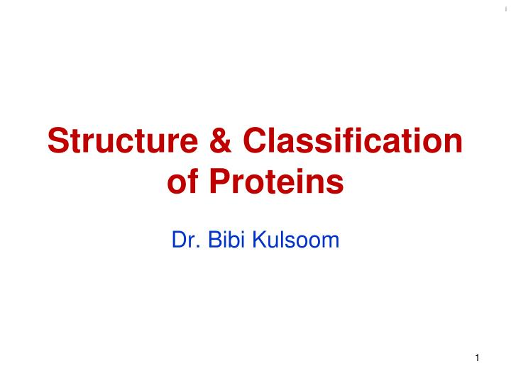 Structure classification of proteins