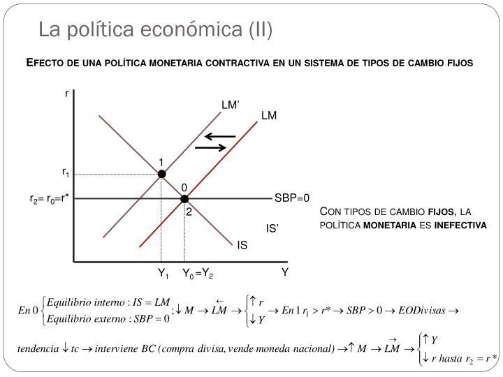La política económica (II)
