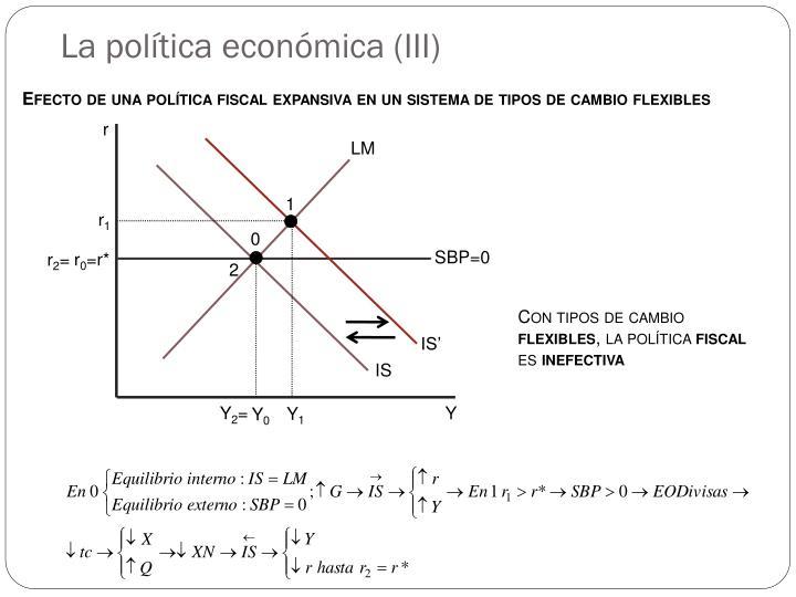 La política económica (III)