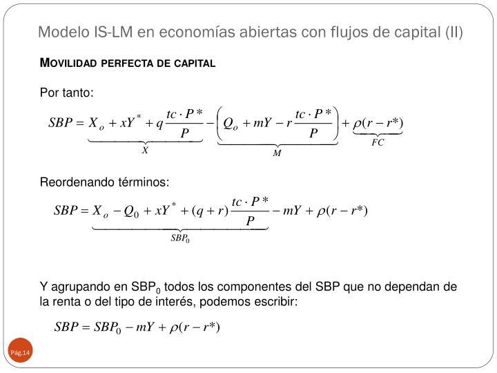 Modelo IS-LM en economías abiertas con flujos de capital (II)