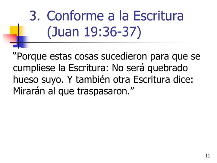 Conforme a la Escritura