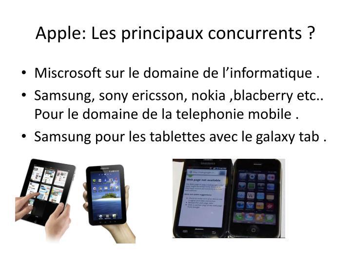 Apple: Les principaux concurrents ?