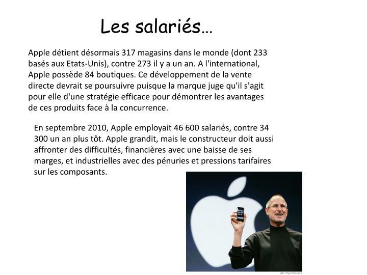 Les salariés…