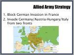 allied army strategy