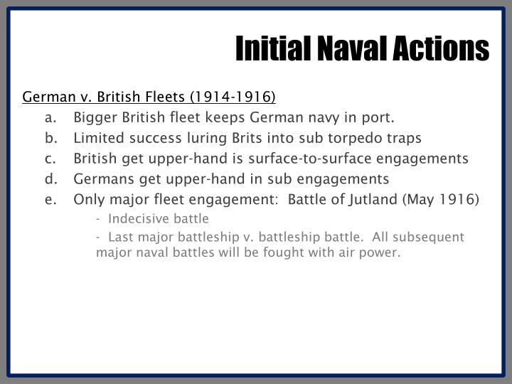 Initial Naval Actions