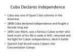 cuba declares independence