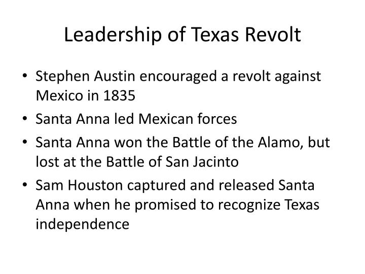 Leadership of Texas Revolt