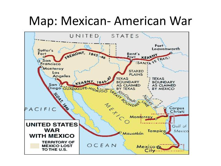 Map: Mexican- American War