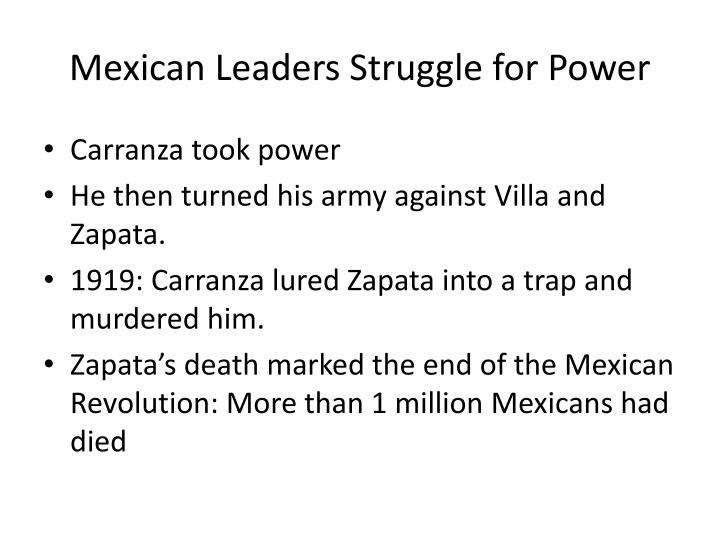 Mexican Leaders Struggle for Power