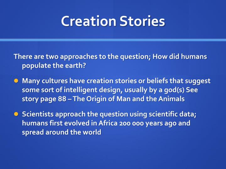 Creation Stories