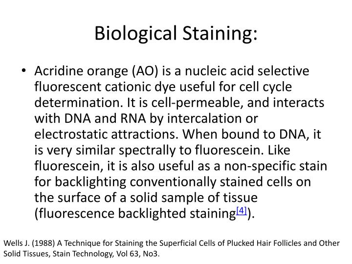 Biological Staining: