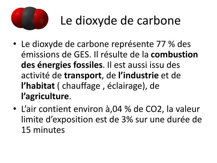 Le dioxyde de carbone