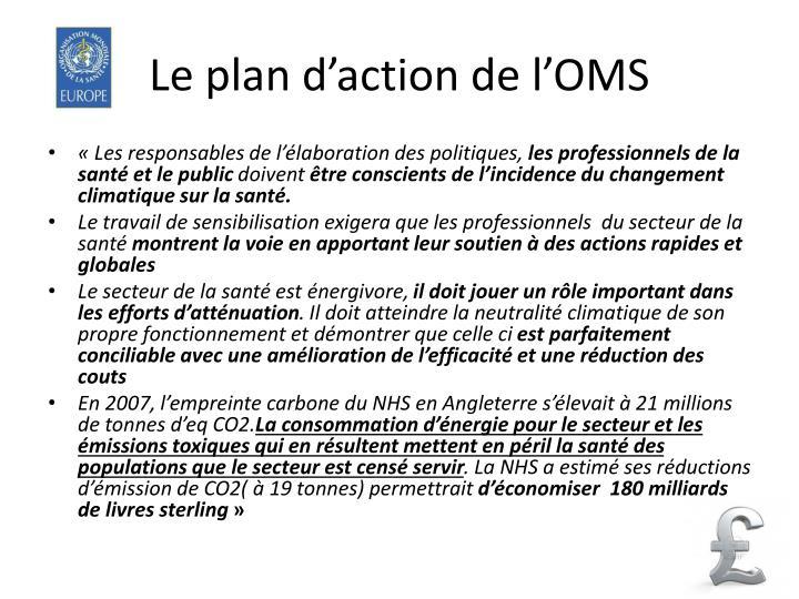 Le plan d'action de l'OMS
