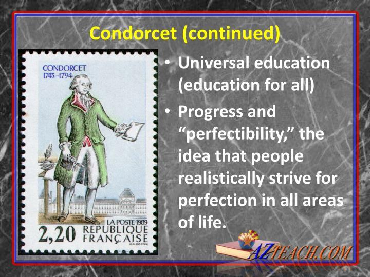 Condorcet (continued)