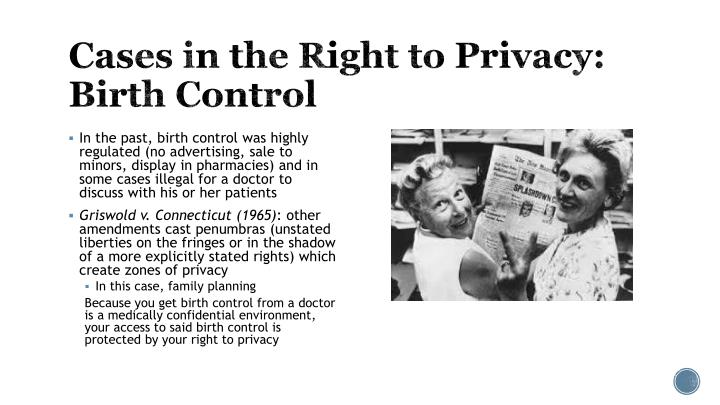 Cases in the Right to Privacy: Birth Control