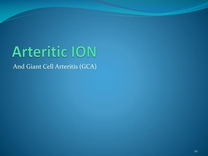 Arteritic ION