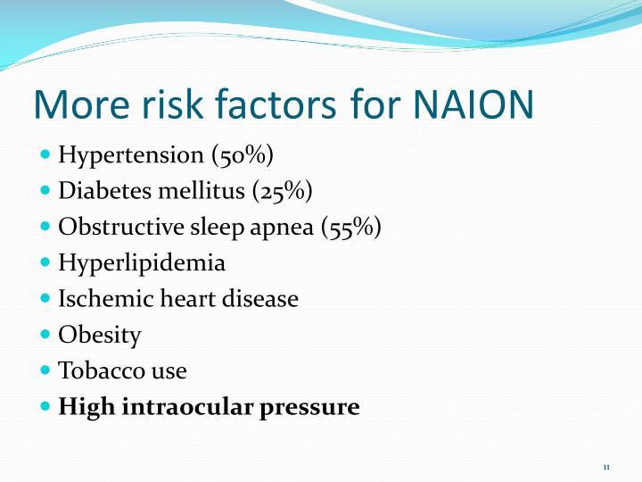 More risk factors