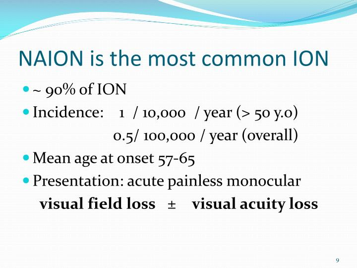 NAION is the most common ION