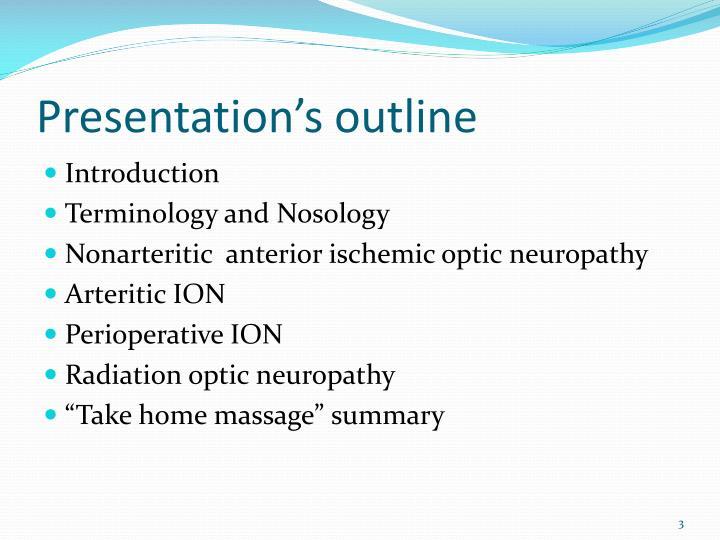 Presentation's outline