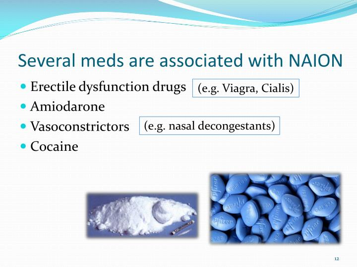 Several meds are associated with NAION