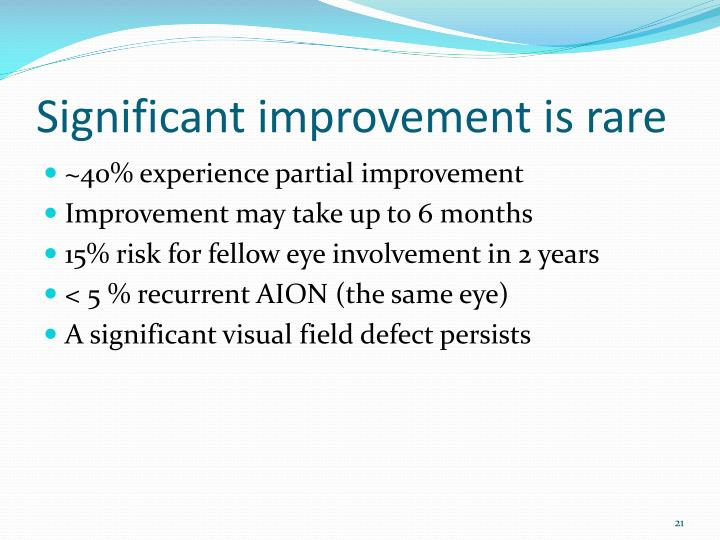 Significant improvement is rare