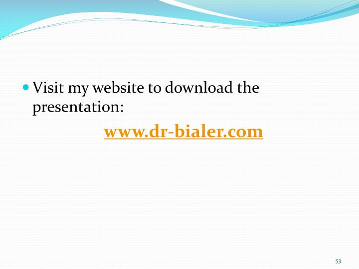 Visit my website to download the presentation: