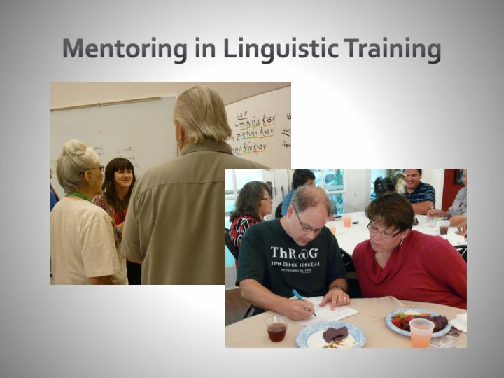 Mentoring in Linguistic Training