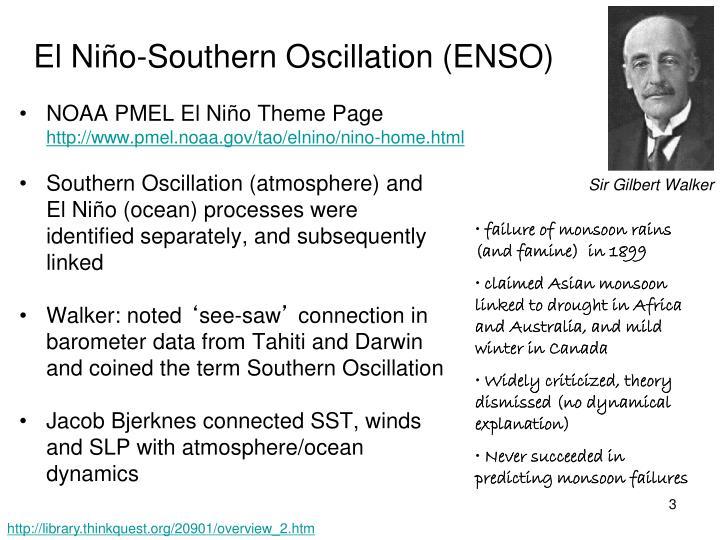 El Niño-Southern Oscillation (ENSO)