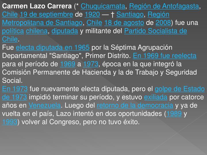 Carmen Lazo Carrera