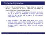 contesto legislativo