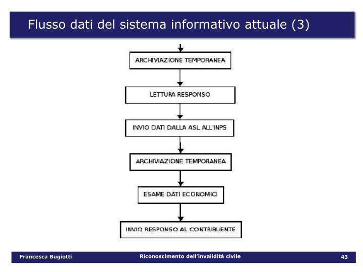 Flusso dati del sistema informativo attuale (3)